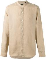 Z Zegna plain shirt - men - Linen/Flax - S