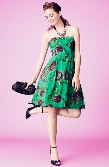 Betsey Johnson Print Fit & Flare Dress