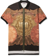 Givenchy Columbian-Fit Printed Cotton-Piqué Zip-Up Polo Shirt
