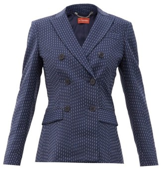 Altuzarra Indiana Double-breasted Pinstriped Crepe Jacket - Navy