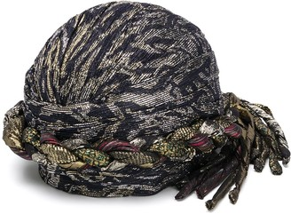 Saint Laurent Metallic Woven Turban