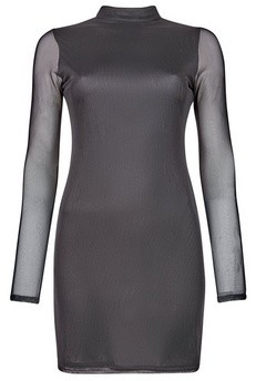 Dorothy Perkins Womens **Lola Skye Black Mesh Dress, Black