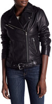 Soia & Kyo Belted Leather Moto Jacket