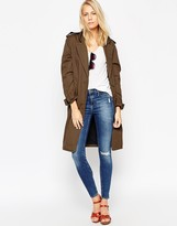 Asos Trench Coat In Cocoon Fit