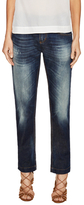 Dolce & Gabbana Faded Distressed Straight Jean