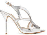 Sophia Webster Madame Butterfly Mirrored-leather Sandals - Silver