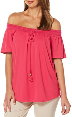 Rafaella Women's Jersey Off The Shoulder Knit Top