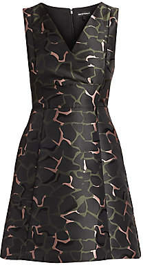 Emporio Armani Women's Sleeveless Camo Jacquard Dress