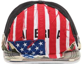 Vetements PRINTED LOGO CAMO AMERICA HAT