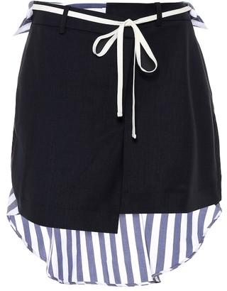 Monse Stretch wool and cotton miniskirt