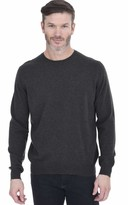 Cashmeren Men's Basic Crewneck Sweater 100% Pure Cashmere Long Sleeve Round Neck Pullover (Black Small)