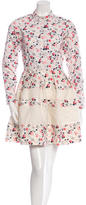 Christian Dior Floral Print A-Line Dress
