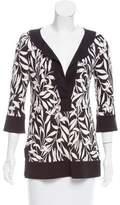 Diane von Furstenberg Leaf Print Silk Tunic