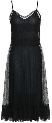 RED Valentino Lace-trimmed Point D'esprit Midi Dress