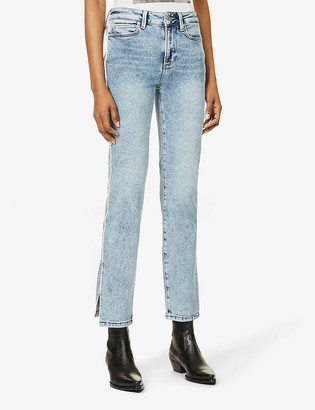 Paige Cindy split-hem straight high-rise jeans