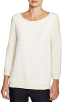 Three Dots Amy Quilted Sweatshirt