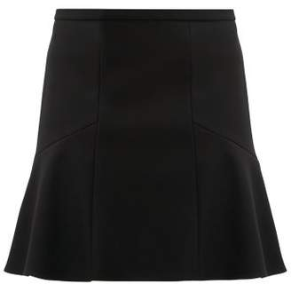 RED Valentino Mid Rise Herringbone Tweed Mini Skirt - Womens - Black