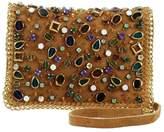 Mary Frances Shattered Tan-Suede Handbag