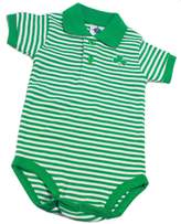 Biddy Murphy Irish Baby Bodysuit Polo Stripe Shamrock 100% Cotton