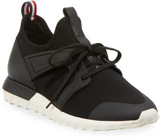 Moncler Men's Emilien Knit & Leather Training Sneakers