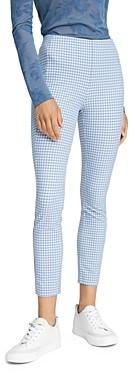 Rag & Bone Simone Gingham Slim Fit Cropped Pants