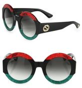 Gucci 51MM Oversized Round Colorblock Sunglasses