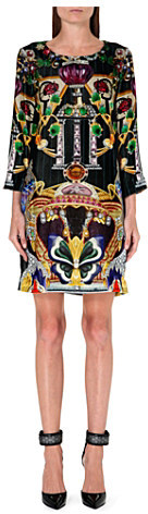 Mary Katrantzou Elio butterfly-print velvet dress