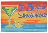 "Liora Manne 30"" x 48"" Frontporch It's 5 o'clock Doormat - Sunset"
