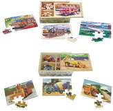 Melissa & Doug ; Wooden Jigsaw Puzzles Set: Vehicles and Construction