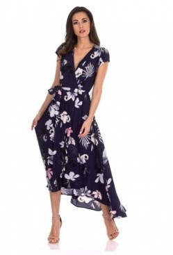 AX Paris Floral Maxi Wrap Dress
