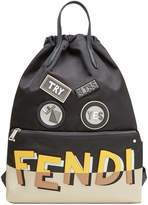 Fendi appliqué shadow logo backpack
