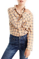 J.Crew Petite Women's Topaz Plaid Boyfriend Shirt