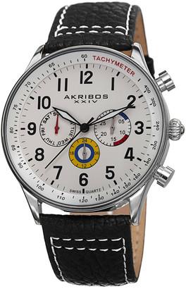 Akribos XXIV Akribos Xxvi Men's Leather Watch