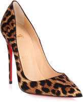 Christian Louboutin So Kate 120 satin leopard pump