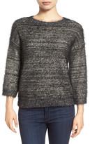Halogen R) Metallic Eyelash Knit Sweater (Petite)