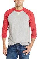 True Grit Men's Vintage Raglan Long Sleeve Tee Shirt
