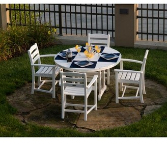 Polywood La Casa Cafe Patio Dining Chair Color: Sand