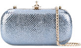 Vivienne Westwood glitter-effect clutch - women - Leather - One Size