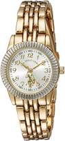 U.S. Polo Assn. Women's Quartz Metal and Alloy Casual Watch, Color:Gold-Toned (Model: USC40098)