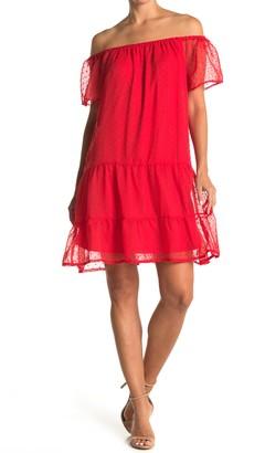 Love Squared Polka Dot Tiered Mini Dress