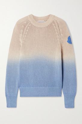 Moncler Ombre Open-knit Cotton Sweater - Sand