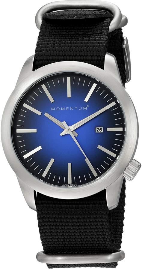 Momentum Men's 1M-SP10U7B Analog Display Japanese Quartz Black Watch