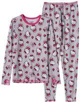 Cuddl Duds Girls 4-12 Hello Kitty® Long-Sleeved Tee & Leggings Set