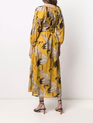 Samantha Sung Nina crane-print dress