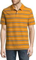 ST. JOHN'S BAY Easy Care Quick Dry Short Sleeve Stripe Pique Polo Shirt