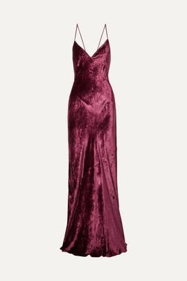 CAMI NYC The Serena Velvet Maxi Dress - Burgundy