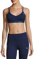 Puma Yogini Strappy-Back Performance Sports Bra, Navy