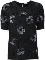 P.A.R.O.S.H. floral appliqué blouse