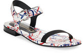 Marc Jacobs Elizabeth Splatter Leather Sandals