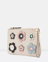 Forever New Kelly 3D Floral Zip Top Pouch